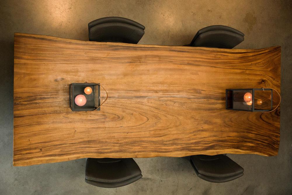Suar Wood Tafels : Suar boomstamtafel met san vincente poten luxe tafels
