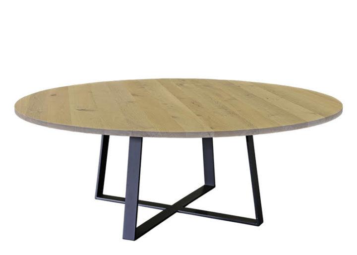 Ronde eikenhouten tafel Massimo